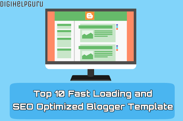 top 10 fast loading and seo optimized blogger template hindi me