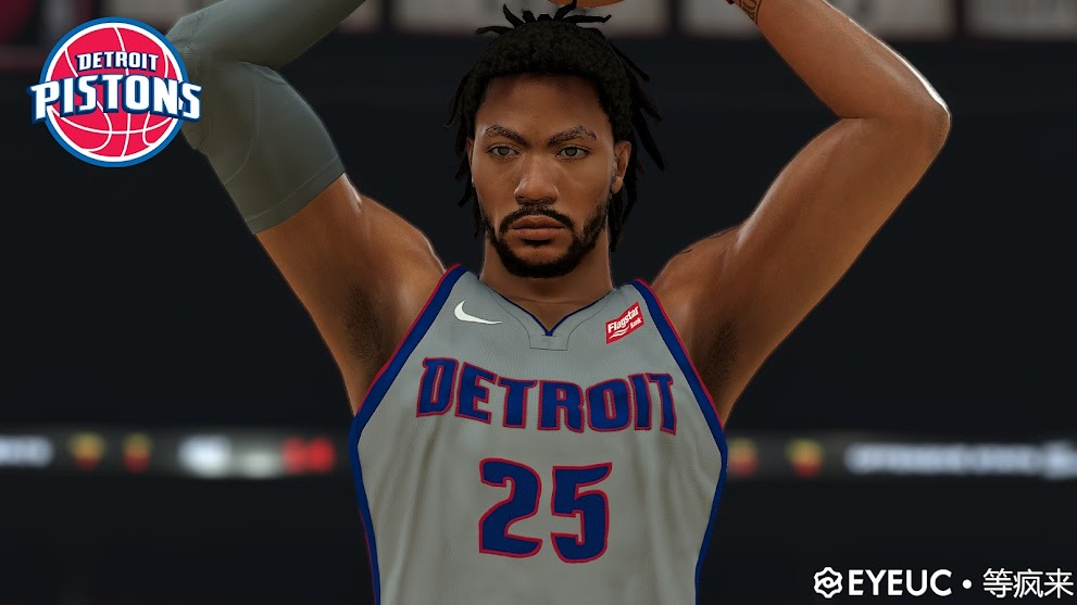 Derrick Rose Cyberface and Body Model By 等疯来 [FOR 2K21]
