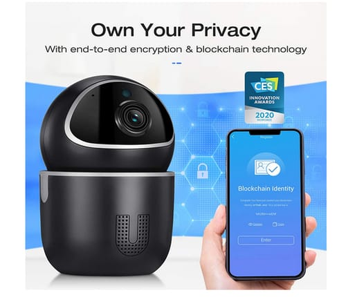 TENVIS Home Security Camera with Blockchain Technology