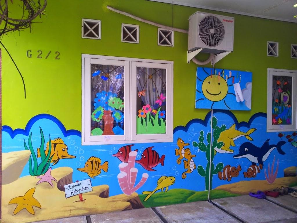 Lukisan Dinding Paud Sederhana Sabalukisan