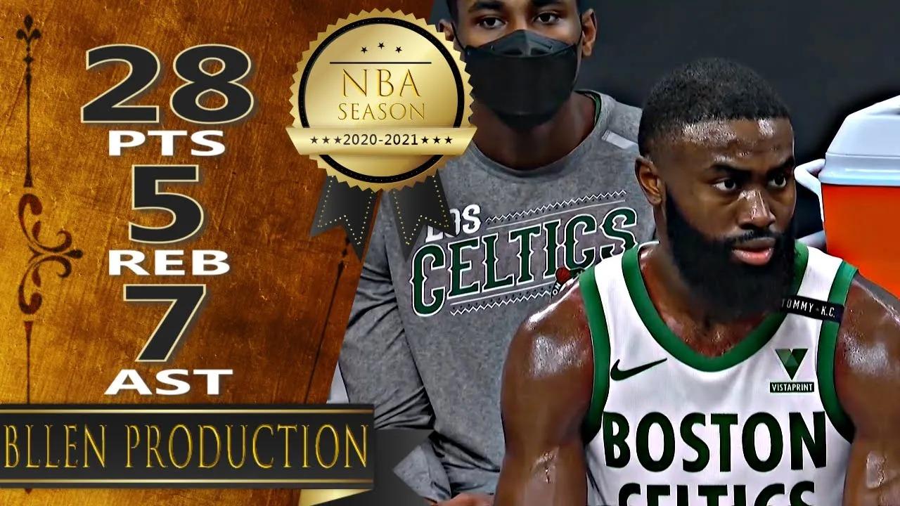 Jaylen Brown 28pts 5reb 7ast vs UTA | March 16, 2021 | 2020-21 NBA Season