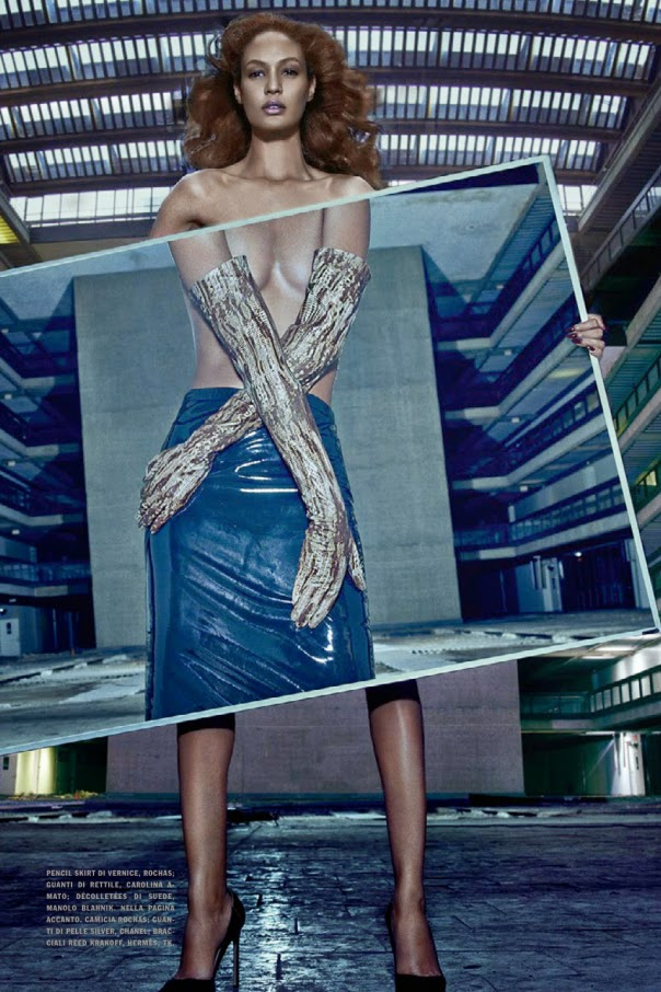 1e2409f232e Joan Smalls Vogue Italia - December 2014. Photographer - Steven Klein  Source - thefashionspot.com