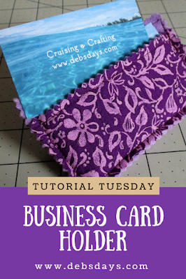 Quick and Easy Homemade Fabric Business Card Holder Sewing Project