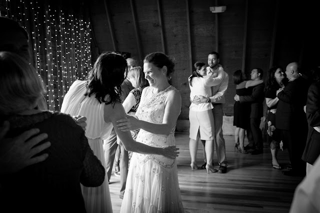 barn reception at Jonna and Heather's Inn at West Settlement Wedding by Karen Hill Photography