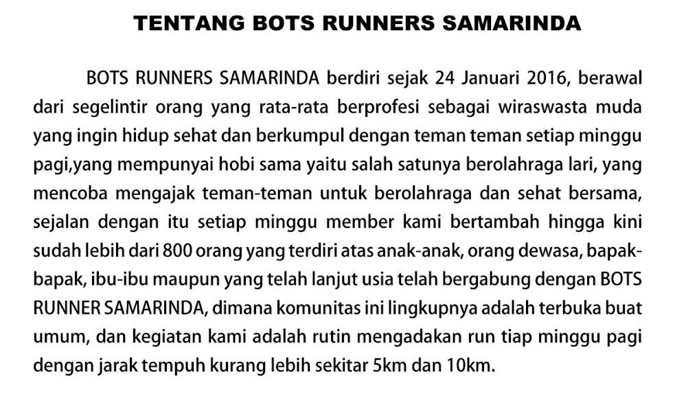 Bots Runners 2nd Anniversary Run Profile 2018