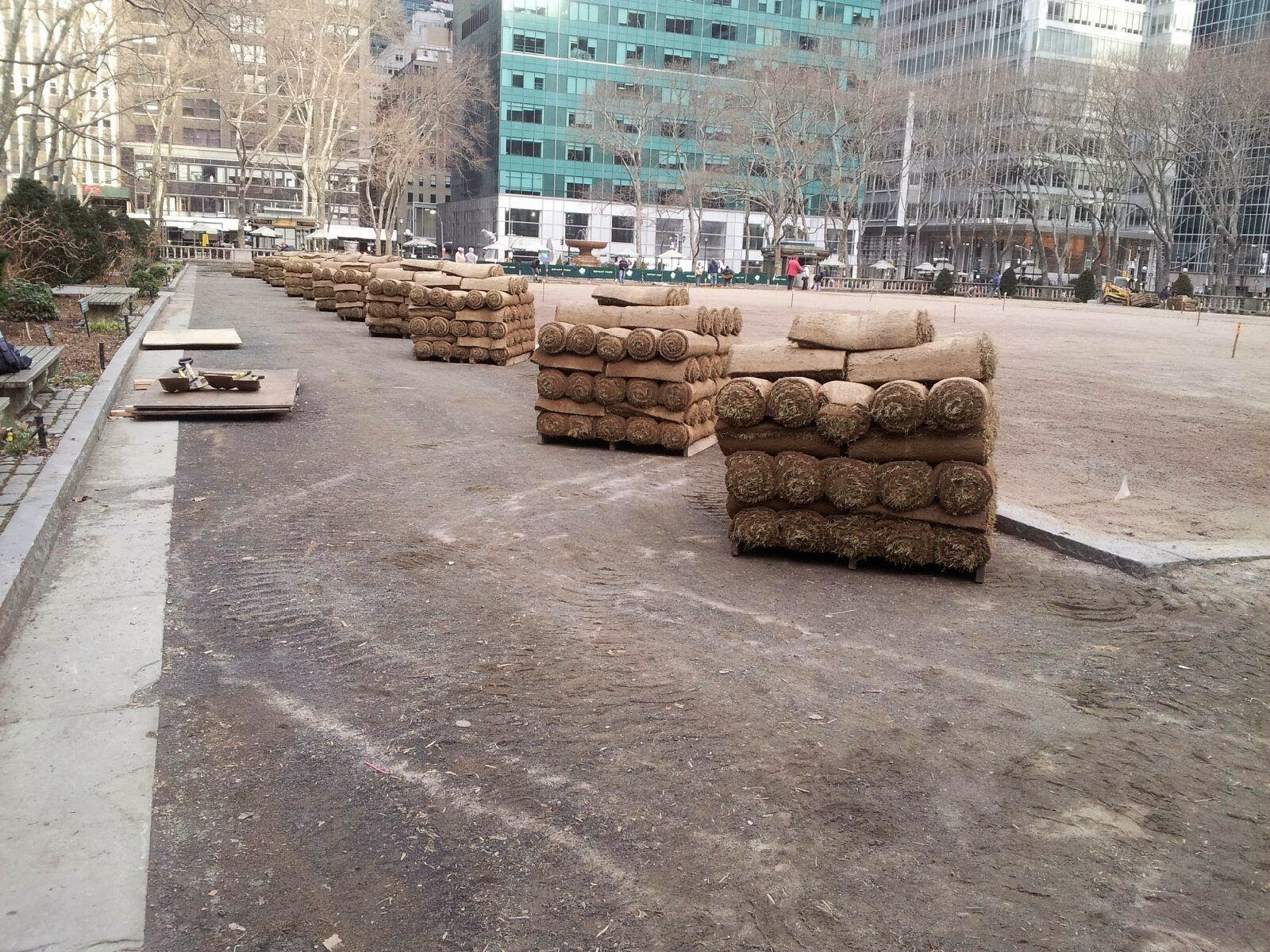 Bryant Park Blog: Signs of Spring: Roll Out the Emerald Carpet