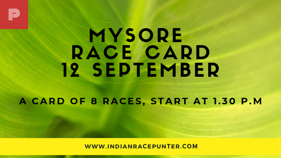Mysore Race Card, free indian horse racing tips, trackeagle,racingpulse