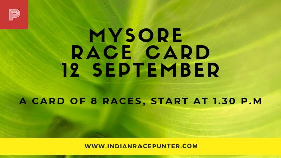 Mysore Race Card, free indian horse racing tips, trackeagle,racingpulse