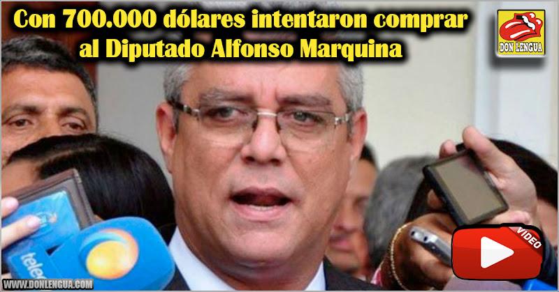 Con 700.000 dólares intentaron comprar al Diputado Alfonso Marquina