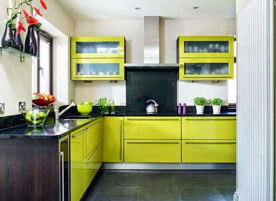 Gambar 13 Desain Dapur Minimalis Warna Hijau Blog Rumah