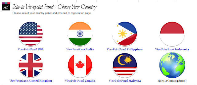 Select your country of residence | View point panel