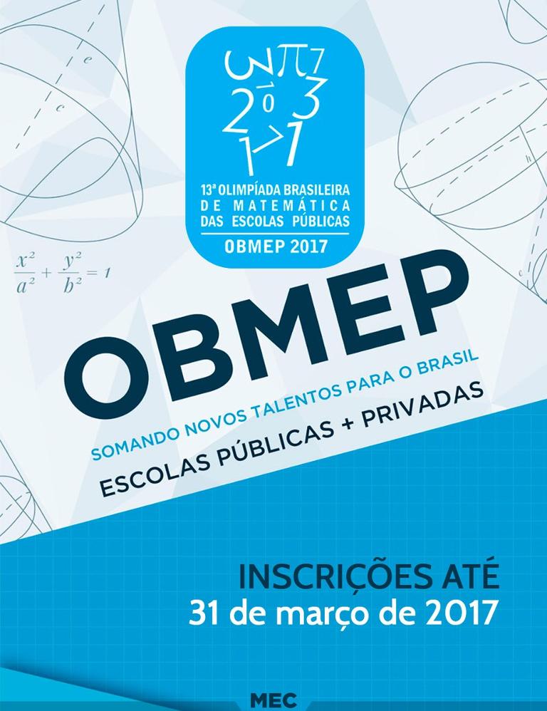 Escolas privadas poderão participar da 13ª OBMEP