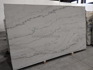 Calacatta quartzite slabs leather finish