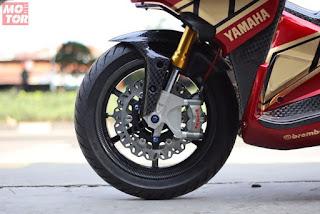 Gambar Modifikasi Yamaha Aerox 155 memakai Monoshock - 3