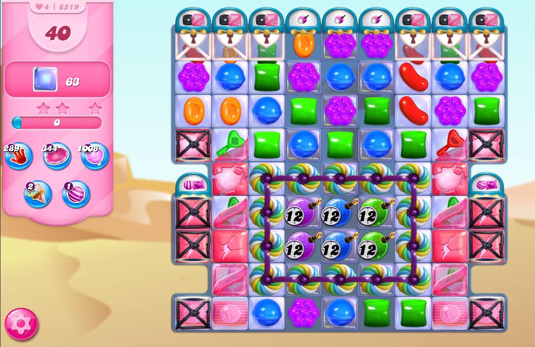 Candy Crush Saga level 8519