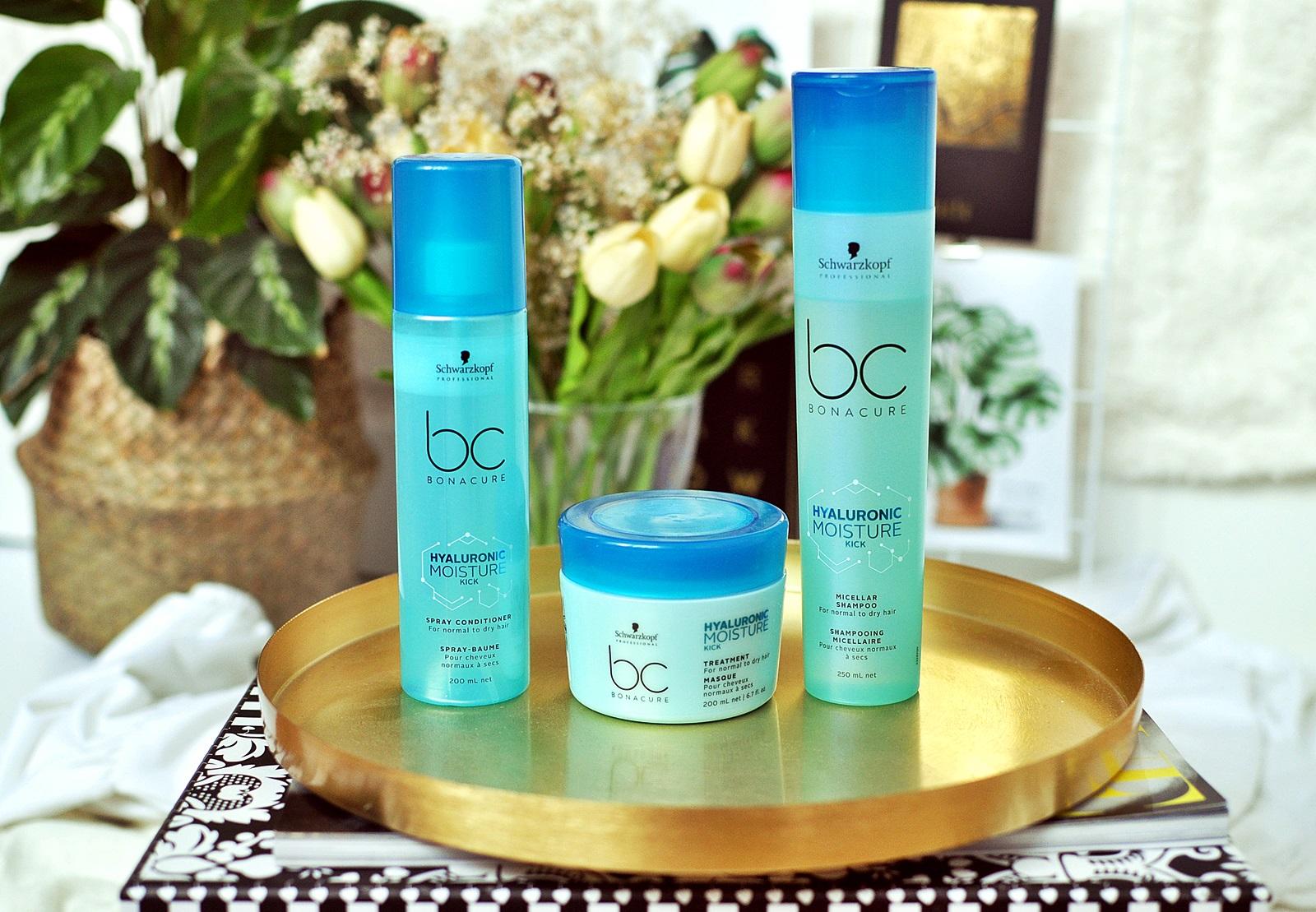 Test kosmetyków do włosów Schwarzkopf BC Moisture Kick - czy dały radę puszącym się i niezdyscyplinowanym włosom?