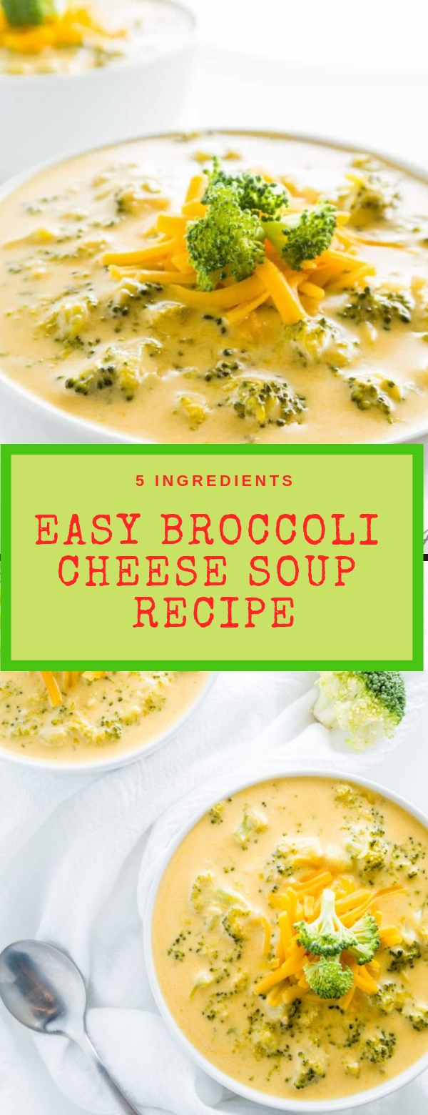 EASY BROCCOLI CHEESE SOUP RECIPE #EASY #SOUPRECIPE
