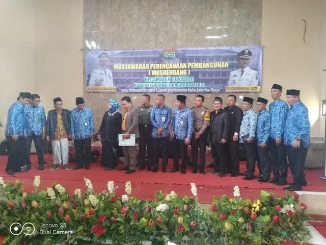 Musrenbang Kecamatan Sukadiri, Syahril  Berharap Pemerintah Perhatikan Pemberdayaan Pemuda dan Keagamaan