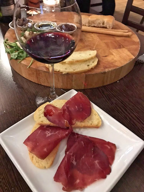 Italian wine tasting at Veeno Leeds Sachia Sicani Perricone with bresaola