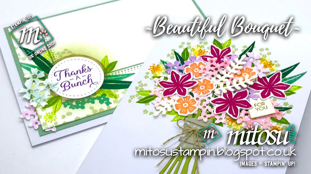 Stampin' Up! Beautiful Bouquet with Swirly Frames SU Card Ideas order from Mitosu Crafts UK Online Shop