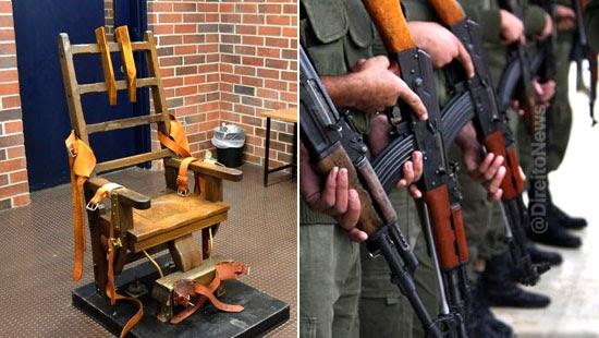 estado americano morte cadeira eletrica fuzilamento