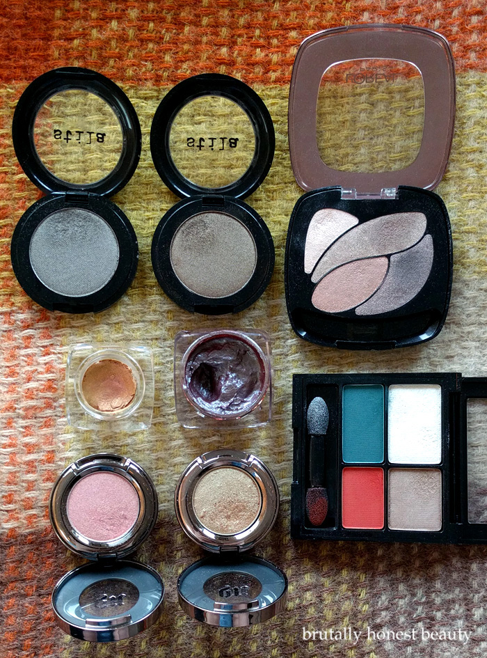 Eyeshadow Singles and Quads from Stila, L'Oréal, Tom Ford, Butter London, Revlon, and Urban Decay