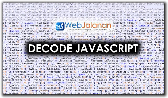 Decode Javascript