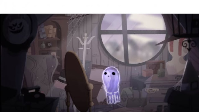 Halloween dan Perjalanan Hantu Jinx yang Kesepian Jadi Google Doodle Hari Ini
