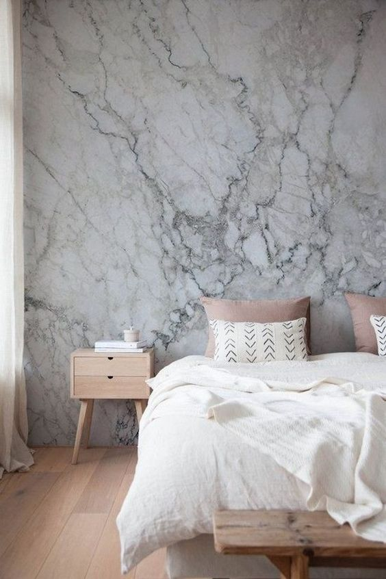 Outstanding Marble Bedroom Decor Idea