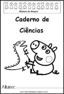 Capa caderno para ciências