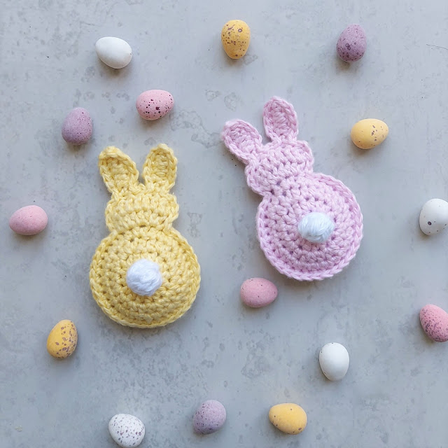 Crochet these cute and easy Easter bunnies
