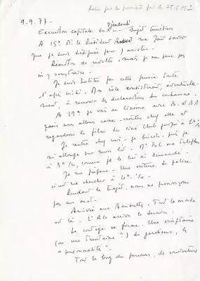 Judge Mabelly's handwritten account of the execution