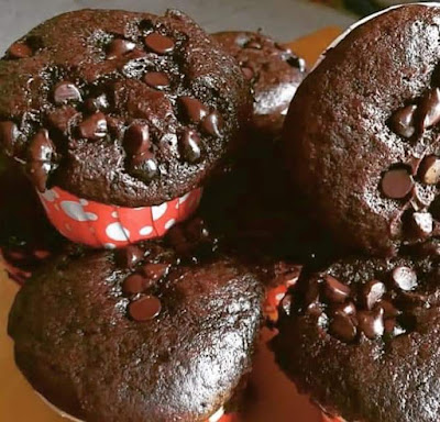 Muffin Pisang Coklat Moist