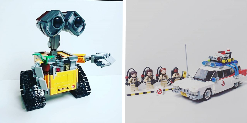 lego wall E et ghostbusters