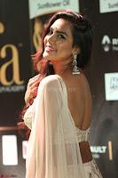 Prajna Actress in backless Cream Choli and transparent saree at IIFA Utsavam Awards 2017 0090.JPG