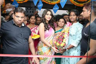 Actress Nabha Natesh Stills A tInaugurated Linen House at Nizampet