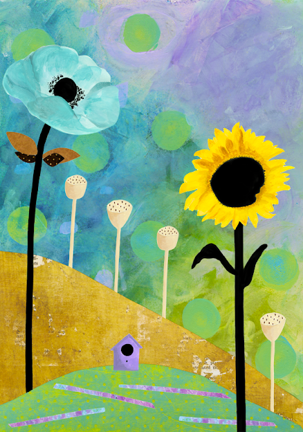 Brightly Colored Flower Painting