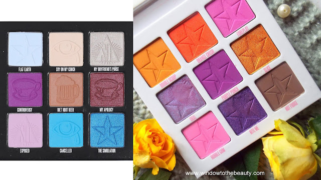 Jeffree Star Cosmetics 9 pan palettes
