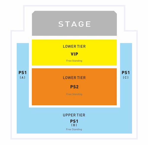 Christina Perri The Head or Heart Tour Live in Malaysia Layout Plan