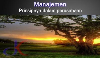 Manajemen | Prinsipnya dalam perusahaan