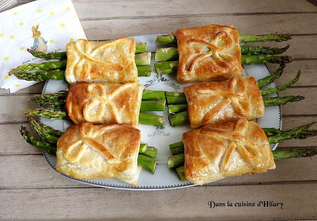 Feuilletés aux asperges vertes, pancetta et parmesan