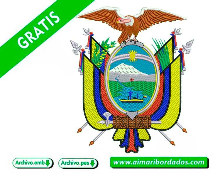 Escudo del Ecuador para bordar a máquina DESCARGA GRATIS