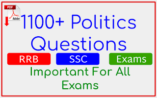 1100+ Politics Questions In English For All Exams