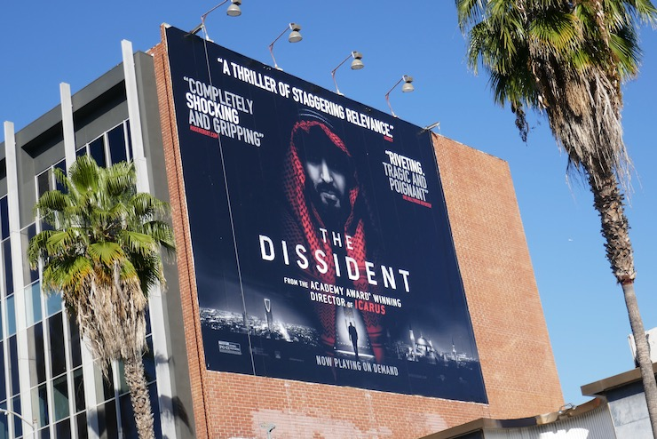Dissident documentary billboard