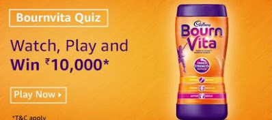 Amazon Bournvita Quiz Answers
