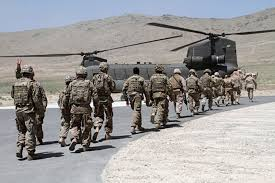 The United States formally began withdrawing its last troops from Afghanistan