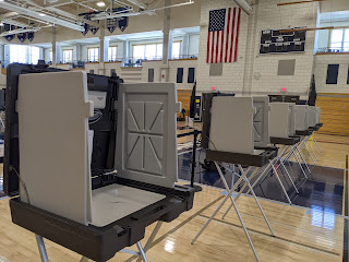voting booths at FHS, taken during an observation period this weekend