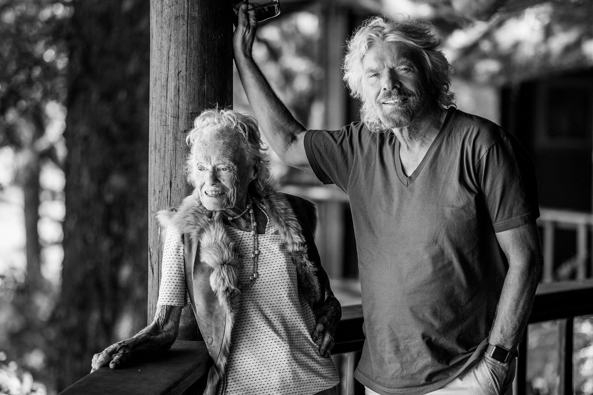 Richard Branson Wishes Happy Birthday to Mum in Inspiring Tweet