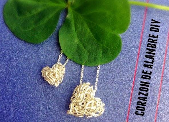 corazón, alambre, bisutería, fiesta, san valentín,manualidades