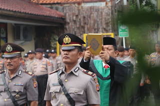 Kapolres Cirebon Kota Pimpin Sertijab Kasat BInmas